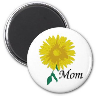 Sunflower for Mom 2 Inch Round Magnet