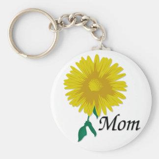Sunflower for Mom Basic Round Button Keychain