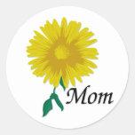 Sunflower for Mom Round Sticker