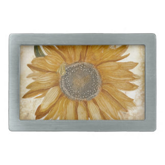 Sunflower Forever Rectangular Belt Buckle