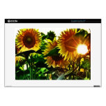 """Sunflower Four Decals For 15"""" Laptops"""