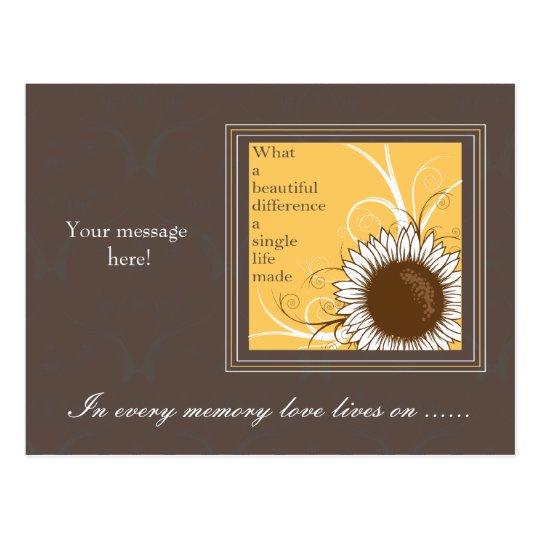 Sunflower frame -sympathy card