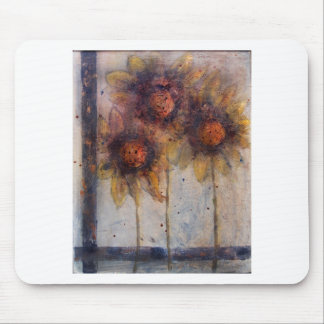 Sunflower frenzy mouse pad