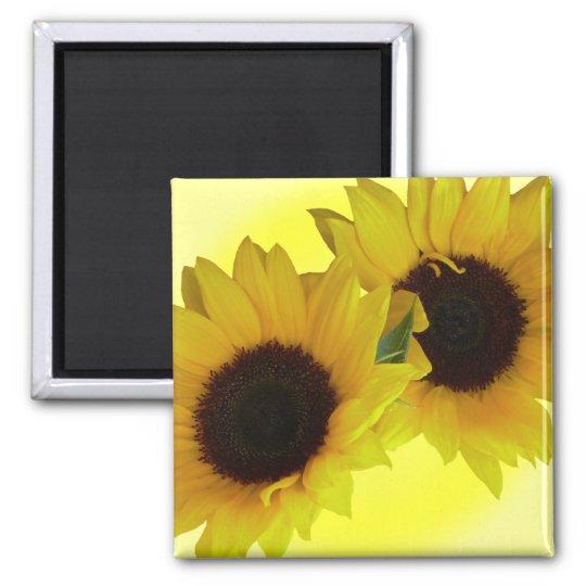 Sunflower Fridge Magnet Cheerful Flower Gift