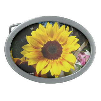 Sunflower & Friends Bouquet - Belt Buckle