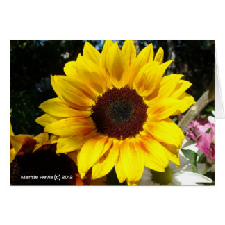 Sunflower & Friends Bouquet Card