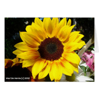 Sunflower & Friends Bouquet Stationery Note Card