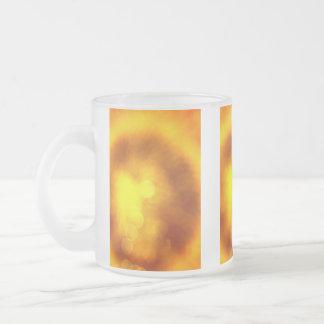 Sunflower Frosted Glass Coffee Mug