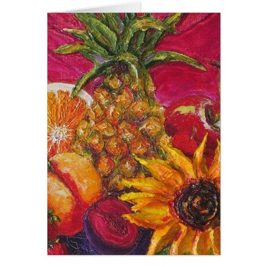 Sunflower & Fruit Card