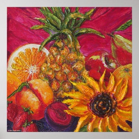 Sunflower & Fruit Fine Art Poster
