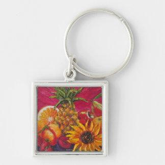 Sunflower & Fruit Keychain