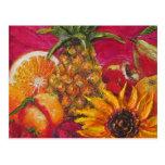 Sunflower & Fruit Post Card