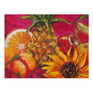 Sunflower & Fruit Postcard