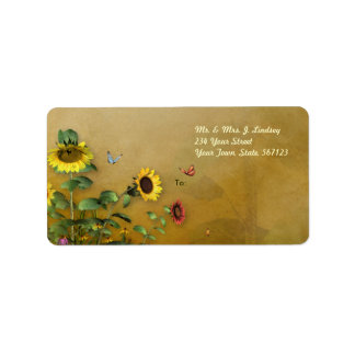 Sunflower Garden 2 Label