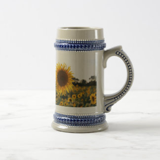 Sunflower garden.Beautiful flowers Beer Stein
