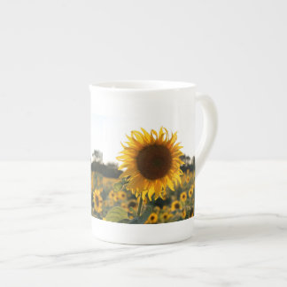 Sunflower garden.Beautiful flowers Tea Cup