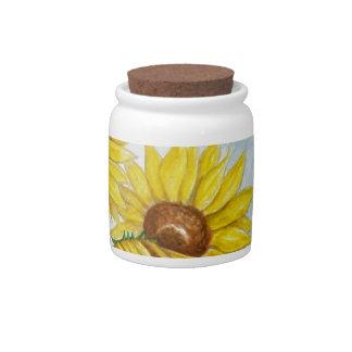 Sunflower Garden Candy Jar