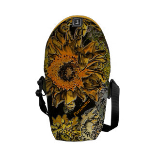 Sunflower Garden in Polished Stone Bags Messenger Bags