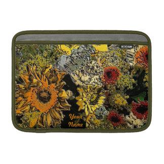 Sunflower Garden in Polished Stone MacBook Sleeve