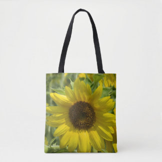 Sunflower Garden Printed Tote Bag