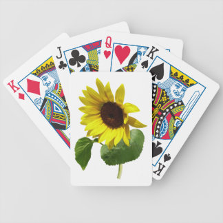 Sunflower Gazing Down Bicycle Playing Cards