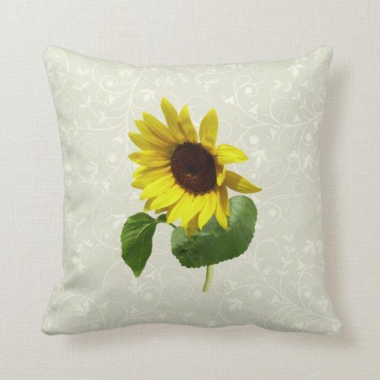 Sunflower Gazing Down Throw Pillow