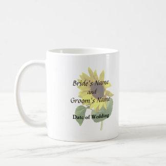 Sunflower Gazing Down Wedding Products Coffee Mug