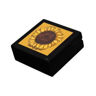 Sunflower Gift Box Custom Sunflower Jewelry Box