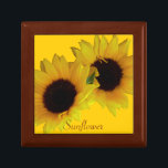 "Sunflower Gift Box Custom Sunflower Jewelry Box<br><div class=""desc"">Sunflower Gift Box Customizable Summer Flowers Boxes Yellow Flowers Jewelry Boxes Personalized Sunflower Gift Boxes Customizable Sunflower Keepsake Box Custom Memorial Boxes Mementos Sunflower Gifts &amp; Gift-Box In Loving Memory Custom Yellow Flowers Boxes Jewelry Boxes &amp; Sunny Summer Gifts for Women Men Kids Home Office Personalized Gardeners Flower Gift Boxes...</div>"