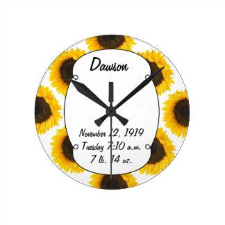 Sunflower Gifts Round Clock
