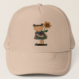 Sunflower Girl 2nd Birthday Gifts Trucker Hat