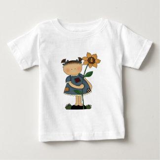 Sunflower Girl 4th Birthday Gifts Baby T-Shirt