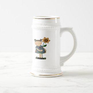 Sunflower Girl 4th Birthday Gifts Mug