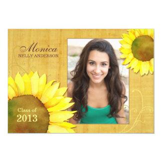 "Sunflower Girl Photo Graduation Class of 2013 Card 5"" X 7"" Invitation Card"