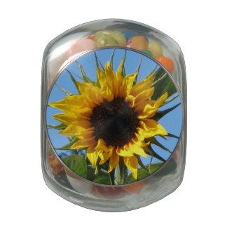 Sunflower - Glass Jelly Belly Jar Glass Candy Jar