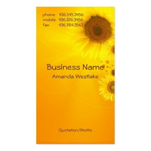 Sunflower Glow Business Card Templates