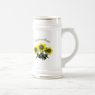 Sunflower Godmother Mothers Day Gifts 18 Oz Beer Stein