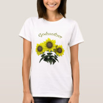 Sunflower Godmother Mothers Day Gifts T-Shirt