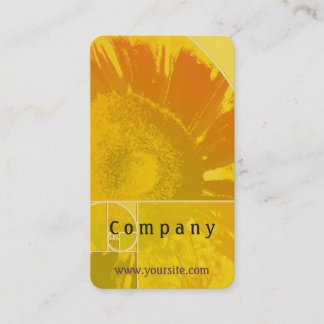 Sunflower Golden Ratio Business Card