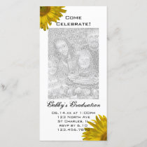 Sunflower Graduation Party Invitation Photo Card