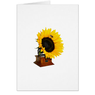 Sunflower gramophone card