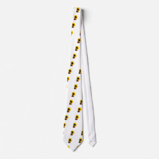 Sunflower gramophone neck tie