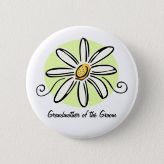 Sunflower Grandmother of Groom Round Button