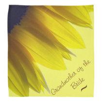 Sunflower GRANDMOTHER OF THE BRIDE Bandana