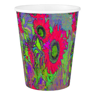 SUNFLOWER GRAPHIC ART BY ARA - PAPER PARTY CUPS