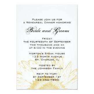 "Sunflower Graphic Rehearsal Dinner Invitation 5"" X 7"" Invitation Card"