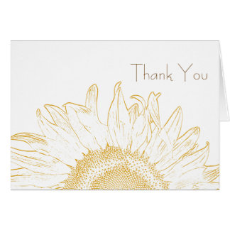Sunflower Graphic Thank You Note Card