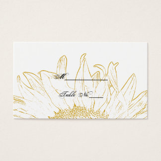 Sunflower Graphic Wedding Place Card