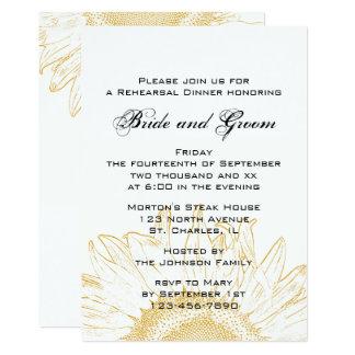 Sunflower Graphic Wedding Rehearsal Dinner Invite