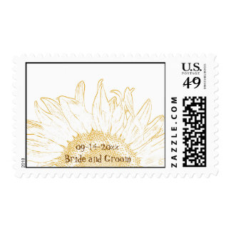 Sunflower Graphic Wedding Stamp